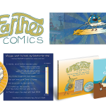 Logo and graphic design for Unearthed Comics