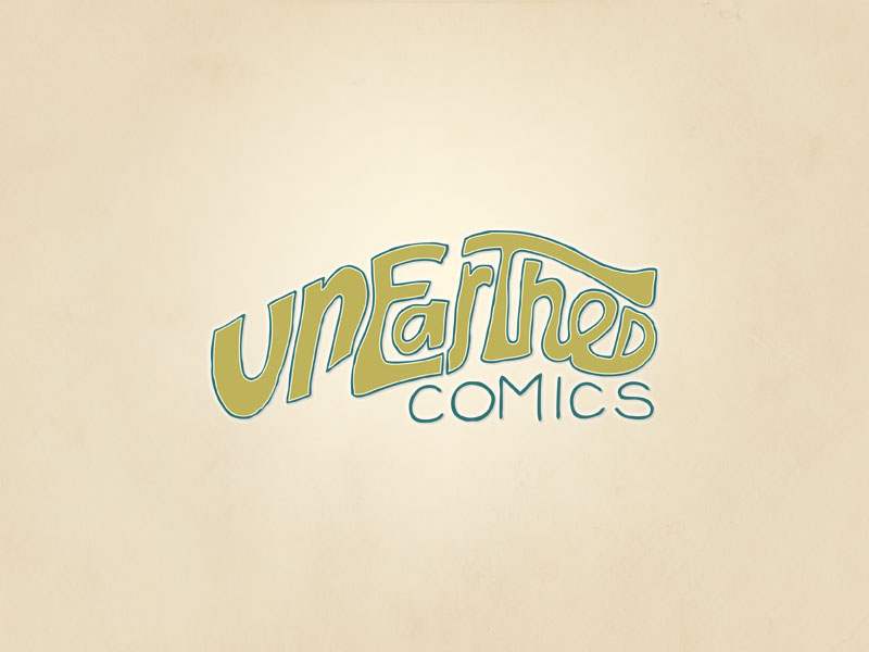 Unearthed Comics hand drawn logo