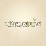 Logo design for Dr. K Natural Pet Veterinarian