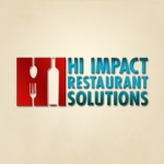 Logo design for Hi Impact Restuarant Solutions