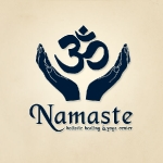 Logo for Namaste yoga studio