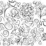 Cali's Garden No. 1, Ink on paper – $190