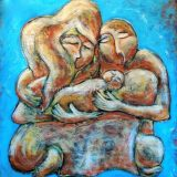 New Family, Acrylic on canvas, 54 in x 59.5 in – Not For Sale