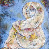 Woman Seeking Solace, Acrylic on canvas, 59.5 in x 70 in – $4000