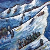 Alpine Meadows 1, 8 in x 10 in, acrylic on canvas – SOLD