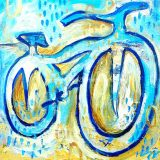 Beachside Bike No. 2, 12in x 12in, acrylic on canvas – $180