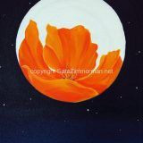 California Poppy with Moon Meditation No. 2, Acrylic on Canvas- SOLD