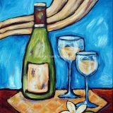 Chardonnay, acrylic on canvas, 11 in x 14in, – SOLD