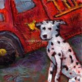 On Call (Dalmation), Acrylic on canvas-