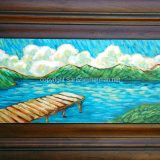 Donner Summer – acrylic on reclaimed cabinet door – 25.5 in x 17.25 in. – $325