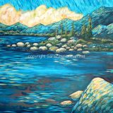Evening (East Shore Lake Tahoe) – acrylic on canvas – 24 in x 36 in – $1,080