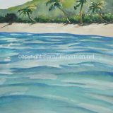 Fiji Island, Watercolor on paper, 21.25 in x 14 in – SOLD