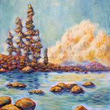 Lake Tahoe Peace – 40 in x 30 in acrylic on canvas – $1300