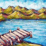 Lake Tahoe Summer 1, acrylic on canvas, 8in x 10in – $140