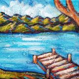 Lake Tahoe Summer 2, acrylic on canvas, 8in x 10in, SOLD