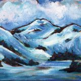 Perfect Ski Day – 8 in x 10 in acrylic on canvas $140