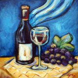 Pinot Noir, acrylic on canvas, 12in x 12in, SOLD