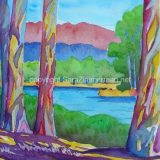 Schwan Lake, Watercolor on Paper- 13.75 in x 10.75 in -SOLD