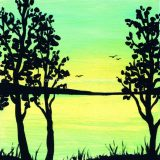 Solitude, Acrylic on Canvas- 6 in x 6 in -SOLD