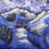 Squaw (Powder Day) – 11 in x 14 in, acrylic on canvas, SOLD