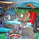 Strife of Papua New Guinea, Acrylic on Canvas- 30 in x 40 in – SOLD
