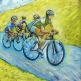 "Tour De California – Acrylic on canvas, framed at 11"" x 14"", reg. SOLD"