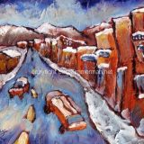 Truckee (First Snow), Acrylic on paper- 8 in x 10 in – SOLD