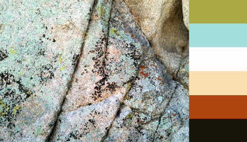 Color palette inspired by Joshua Tree boulder