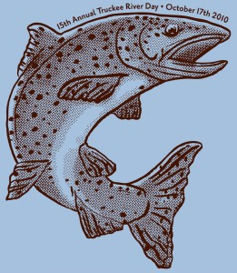 Truckee River Wateshed Council's Truckee River Day fish shirt illustration 2010