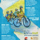 Benefit Cycling Poster for Boys and Girls Club featuring hand-painted design