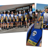I took the logo and colors from their business and created a layout for the Elijah Bleu cycling team, including jerseys, shorts, gloves, and arm warmers.