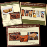 Dan does amazing wood work and needed a web presence plus marketing tools to relay that information to his market. Using wood and close-ups of his works as his theme, I created a website and identity for him, as well as advertisements and postcards. josephwoodworks.com