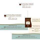 Dr. Dan Martin DDS branding, including logo design, envelopes and letterhead, business cards, and referral sheets