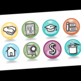Here's a sample icon set for My eCoach, an online learning community. These are a handful of my favorites from the 50 I designed.