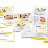 Branding for Judy Cole (Facebook, Business cards, newsletter, and rack cards)