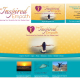 Logo design, graphic design, branding, business card design, web design, web coaching, web development, marketing and SEO for The Inspired Empath