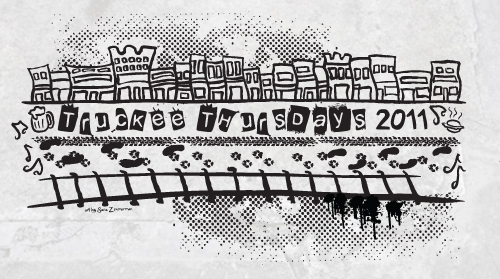 Truckee Thursdays 2011 t shirt design