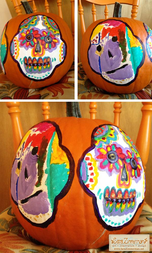 Dia de los Muertos pumpkin design