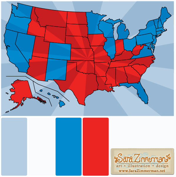 Election map color palette 2012