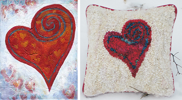 Creative Heart inspires pillow design