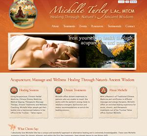 Best acupuncturist website, Michelle Turley