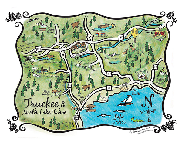 custom taheo map and custom wedding maps