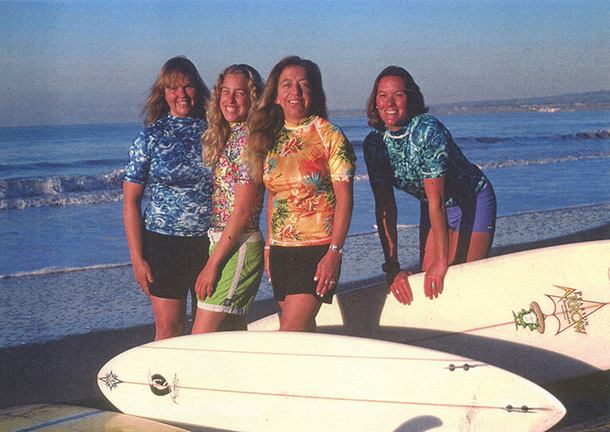 Women small business owners of Paradise Surf SHop