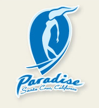 paradise surf shop logo designed by Tim Ward