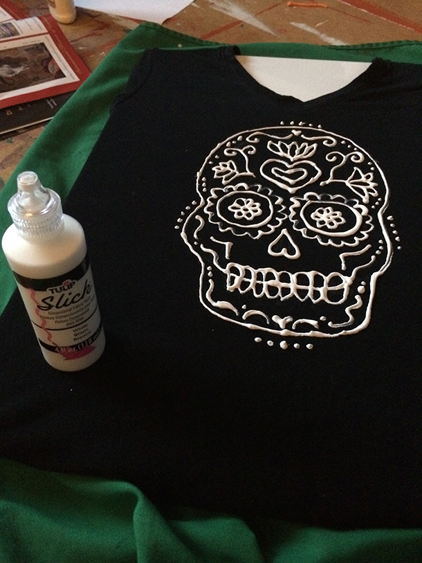 Art life hacks t-shirt painting  Day of the Dead shirts