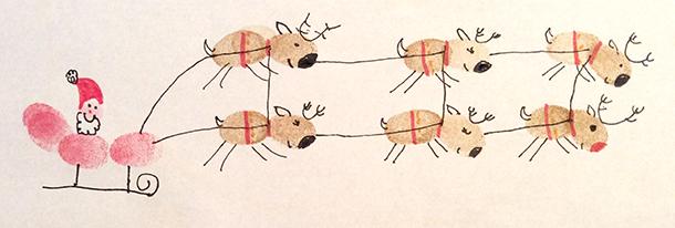 Mixed media thumbprint art by my 6 year daughter, Cali Zimmerman