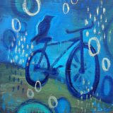 Bike On, No.1, 10in x 10in, acrylic on wood – reg $100; sale $50