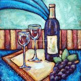 Cab Sav, acrylic on canvas, 16in x 20in, (reg $400) Sale: $200