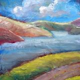 Columbia River in September, Mixed Media- 10 in x 8 in – ($150) sale $75