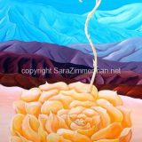 Desert Blossom, Acrylic on Canvas, 36 in x 24 in – (reg. $1090) SALE: $545